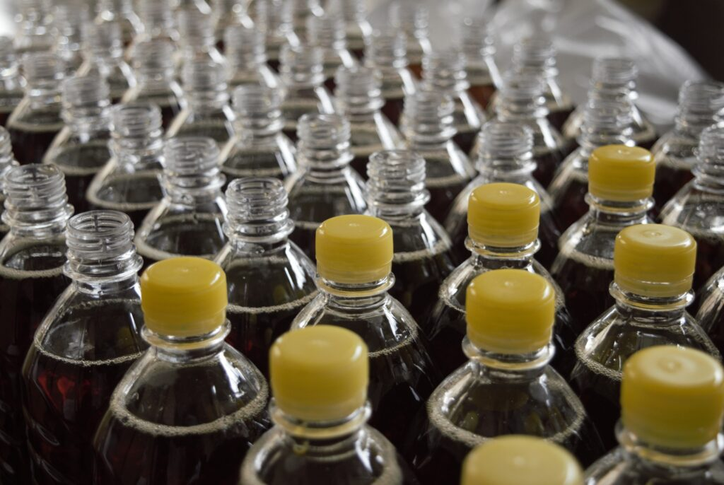image of bottles on an assembly line