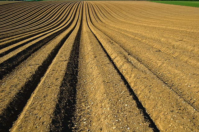 photo of a ploughed field